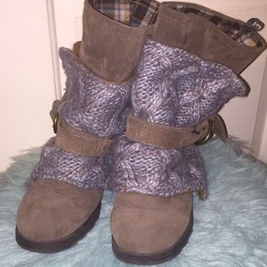 Taupe Mukluks boots